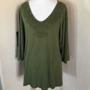 Avenue Plus Size Olive Shirt